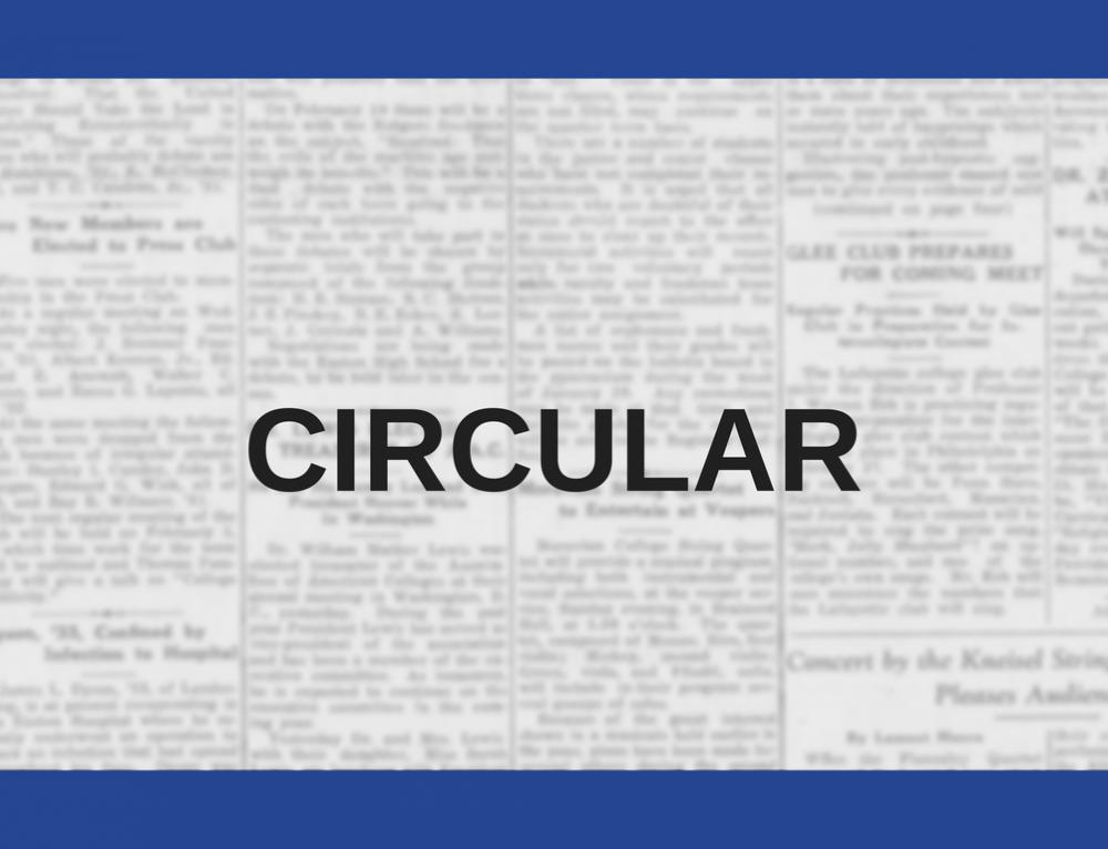 Circular informativa Mayo 2018