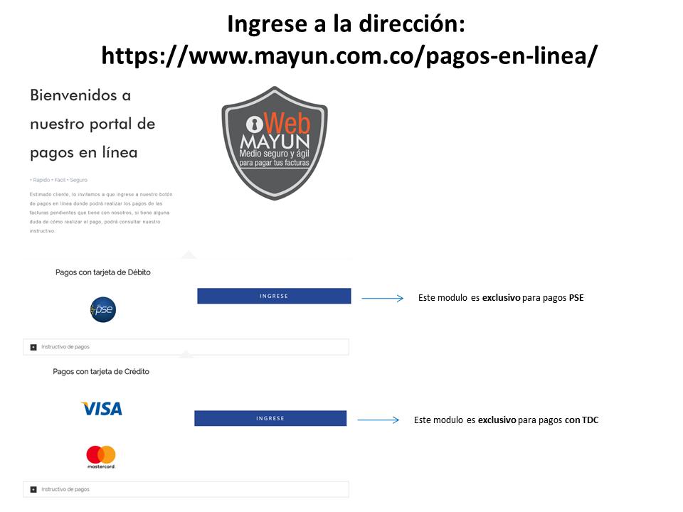 pague su factura fácil y rápido en nuestra pagina web mayun s a s