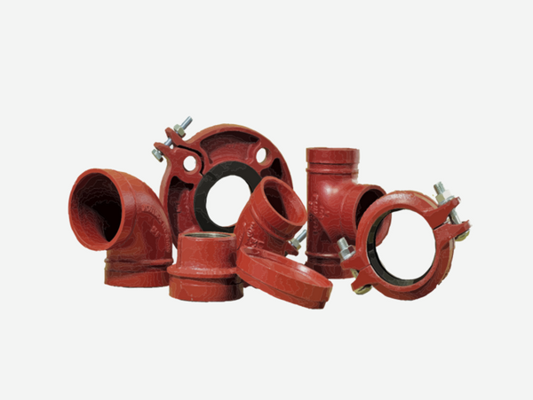 tubería, ranurado, red contra incendios, accesorios